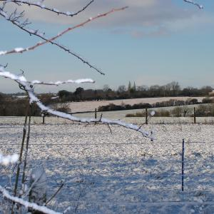 Clopton fields in snow ©DHughes
